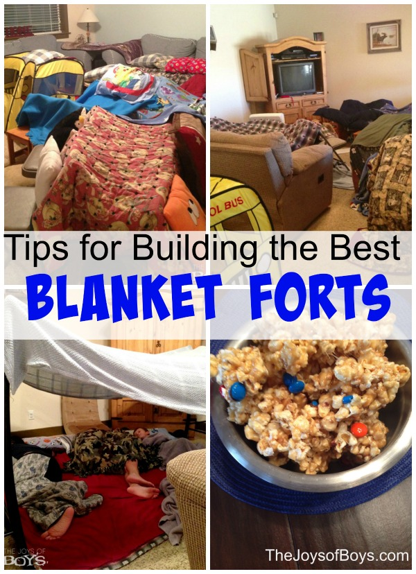 Tips for building a blanket fort
