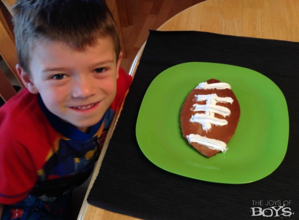 Eating Football Pancakes