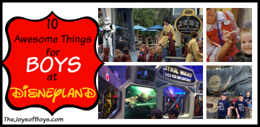 DIsneyland for boys collage