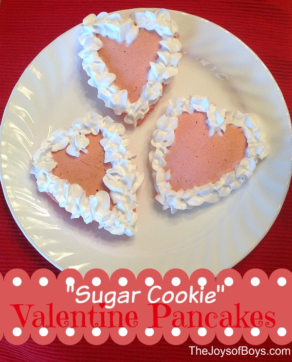 Sugar Cookie Valentine Pancakes