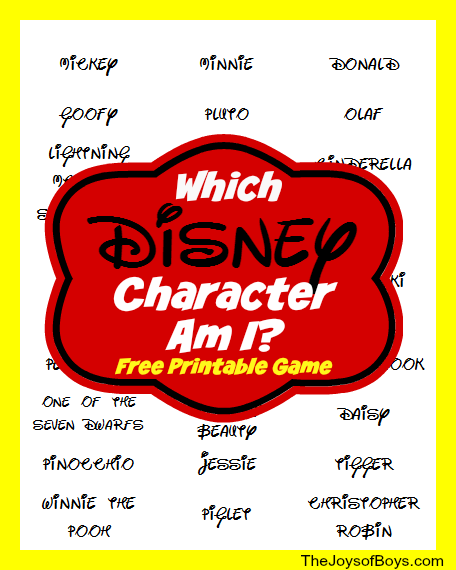Printable Disney Game
