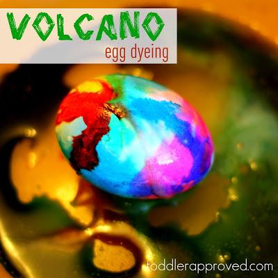 volcano egg dyeing
