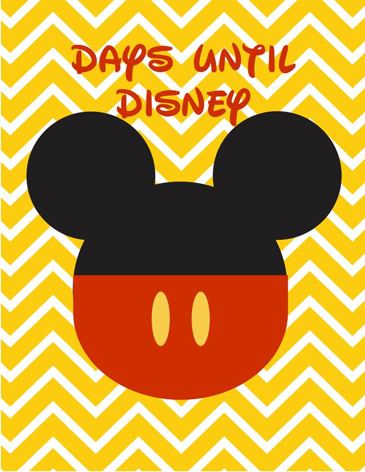 Days Until Disney Countdown Free Printable The Joys Of