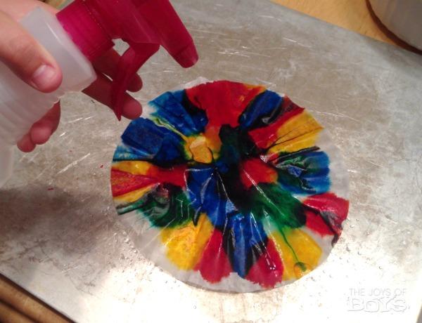 Making Tie Dye Easter Eggs