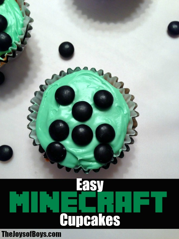 Minecraft Cupcakes Perfect For Minecraft Birthday Party