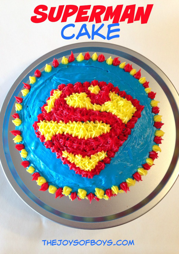 Superhero First Birthday Cake