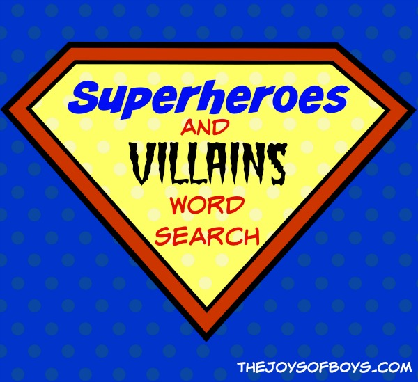 Superhero Word search