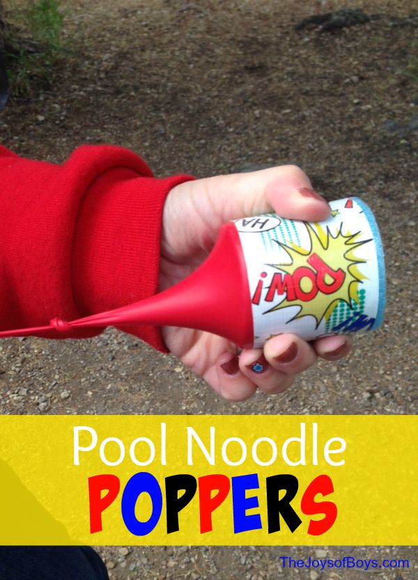 Pool Noodle Poppers