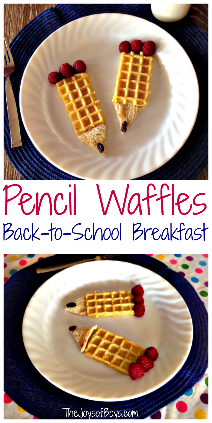 Back to School Breakfast: Pencil Waffles