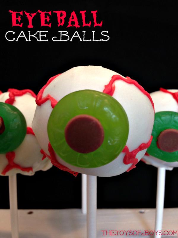 Eyeball cake balls