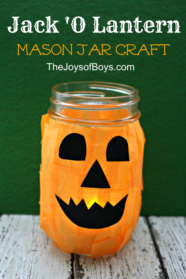 jack o lantern craft o lantern craft from a jar 4764
