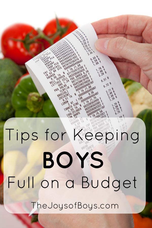Keeping boys full