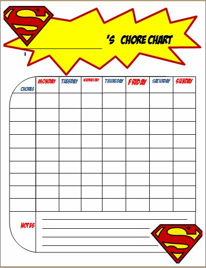free printable chore charts for boys the joys of boys. Black Bedroom Furniture Sets. Home Design Ideas