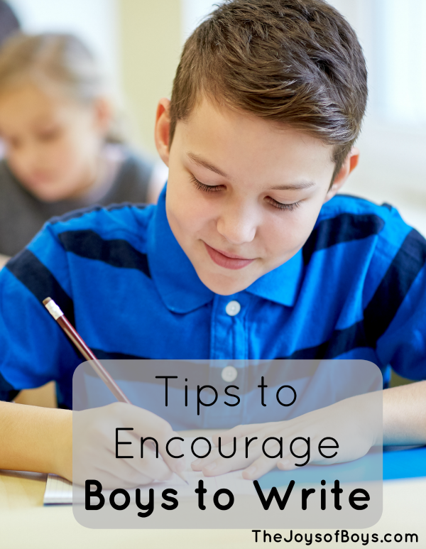 Encourage boys to write