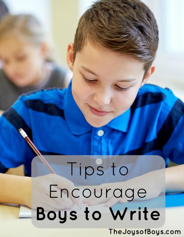 Encourage boys to write