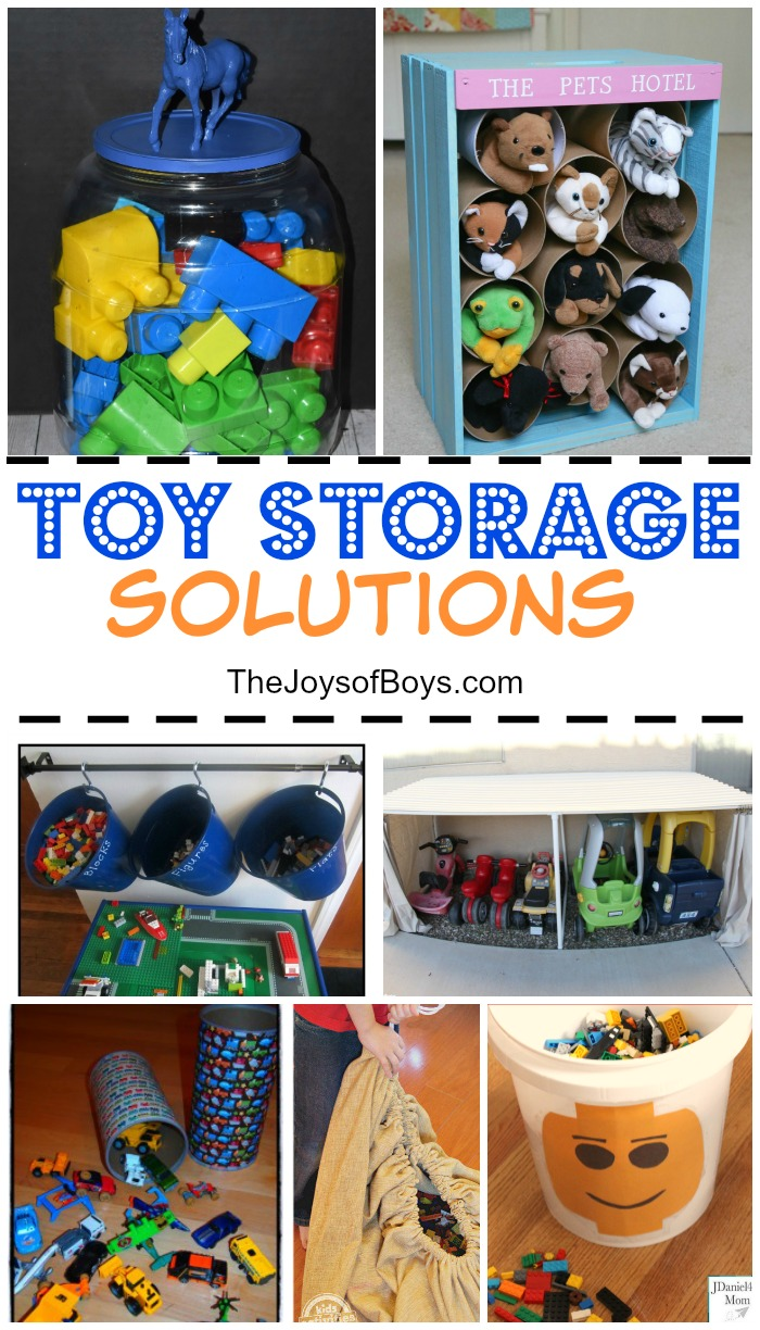 Over The Years Of Raising Four Boys, We Have Acquired Quite A Bit Of Toys.  Here Are Some Of My Toy Storage Solutions As Well As Some Great Ideas From  Some ...