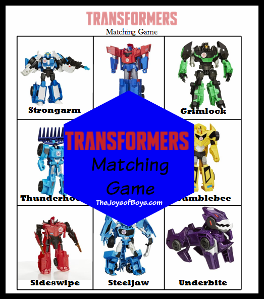 photograph about Transformers Printable known as Transformers Matching Sport - Free of charge Printable