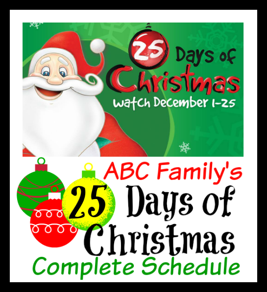 25 days of christmas - Abc 25 Days Of Christmas