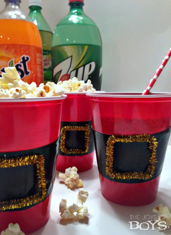 Santa Pants snack cups