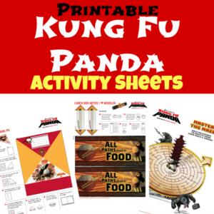 Kung Fu Panda Activity Sheets fb