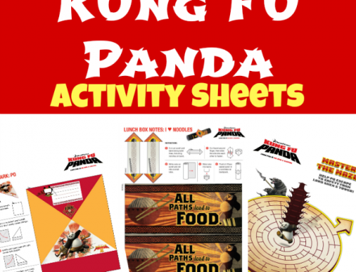 Kung Fu Panda Activity Sheets and DVD Giveaway!