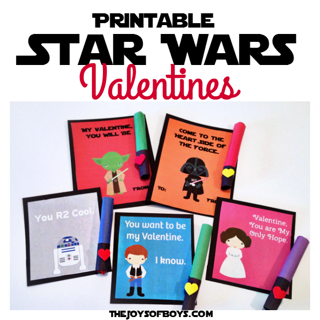 Star Wars Valentines and Light Saber Treat