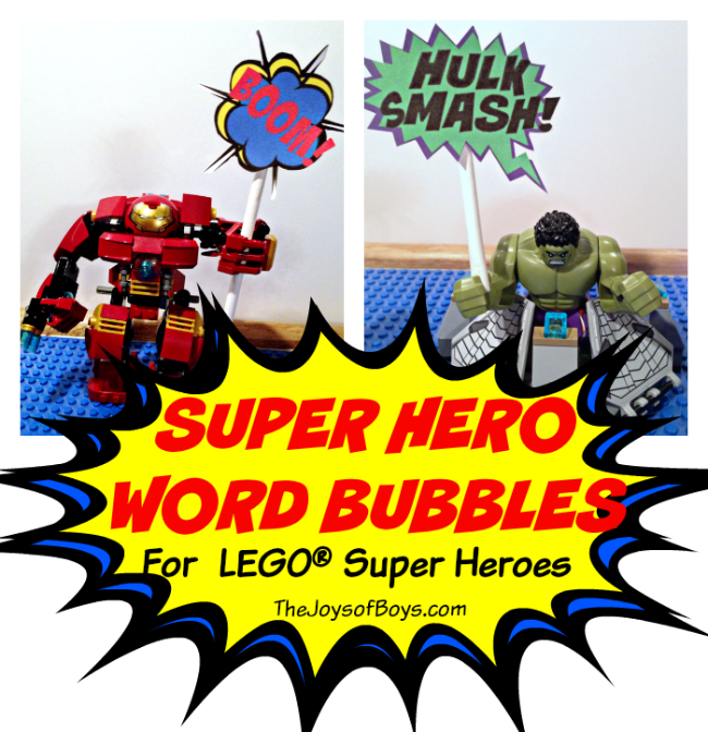 Super Hero Word Bubbles