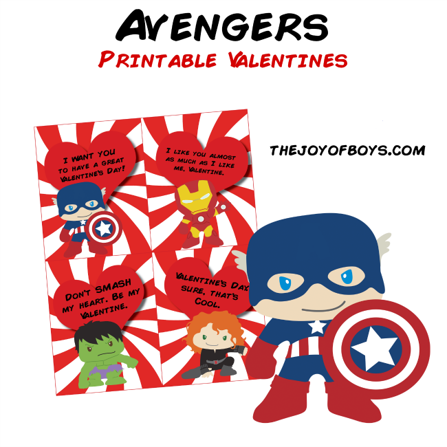 image relating to Valentines Printable Free named Avengers Valentines - Free of charge Printable Valentines for Small children
