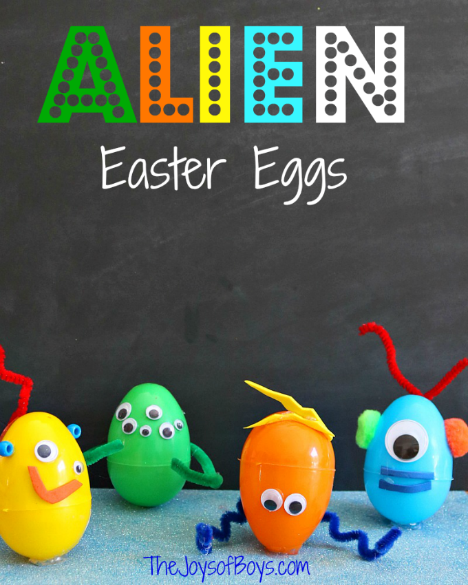Alien Easter Eggs craft