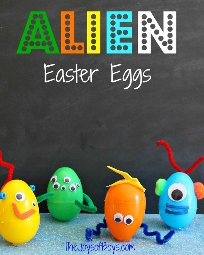 Alien Easter Eggs craft