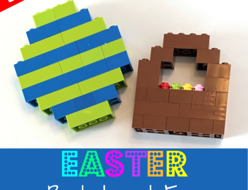 LEGO Easter Basket and Egg: Easy LEGO