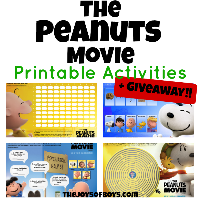 The Peanuts Movie Printables