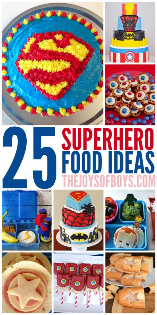 25 Superhero food ideas
