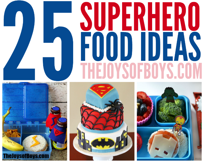 Superhero food ideas, we LOVE the Official DC Superhero Cookbook