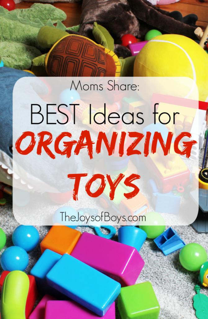 Ideas for organizing toys