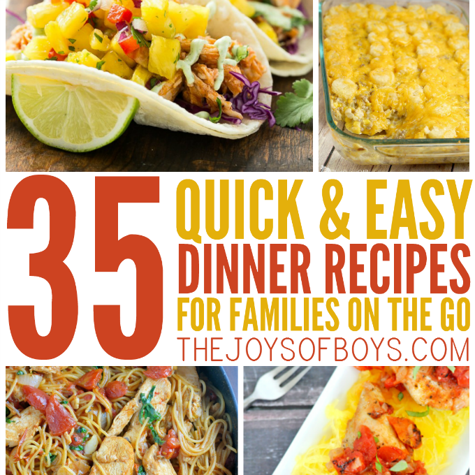 Easy dinner recipes for familes