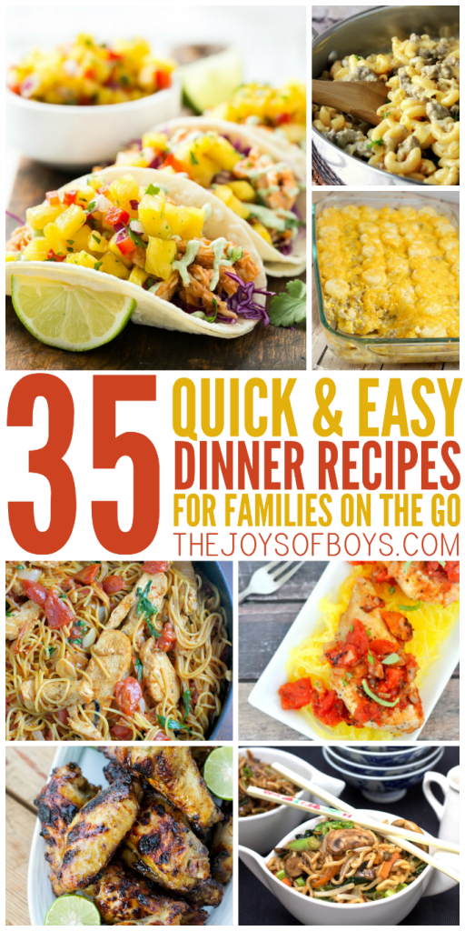 Easy dinner recipes for the family on the go