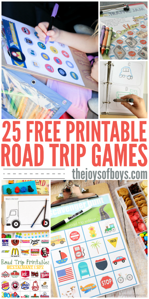 image relating to Travel Bingo Printable named Totally free Printable Street Vacation Game titles