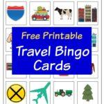 Travel Bingo cards square