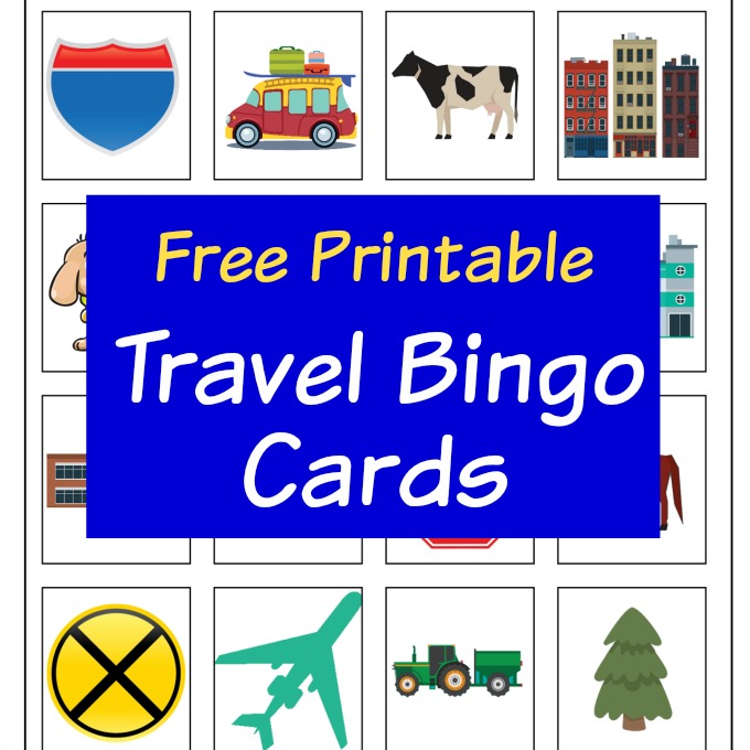 Travel Bingo cards square