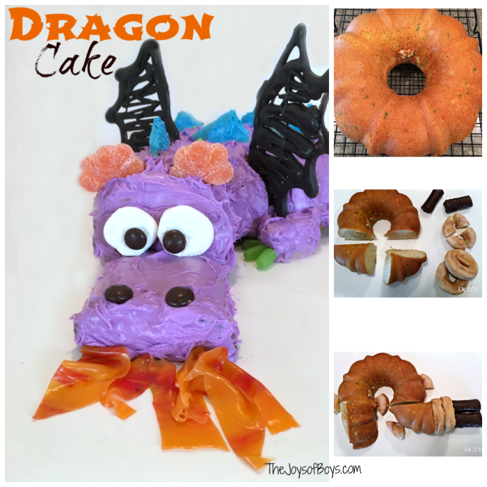 Easy Dragon Birthday Cake