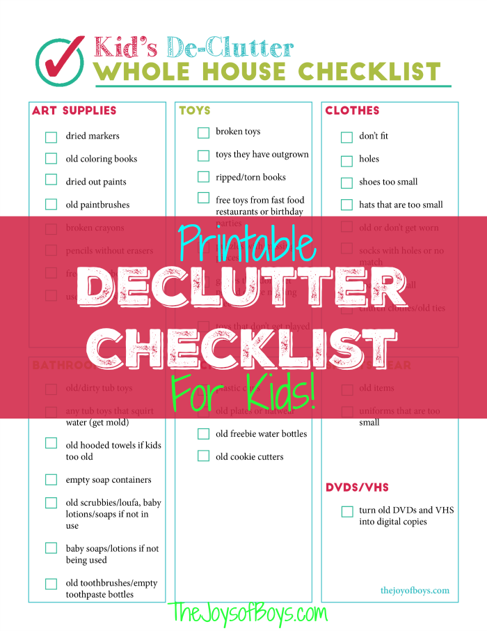 moving check list