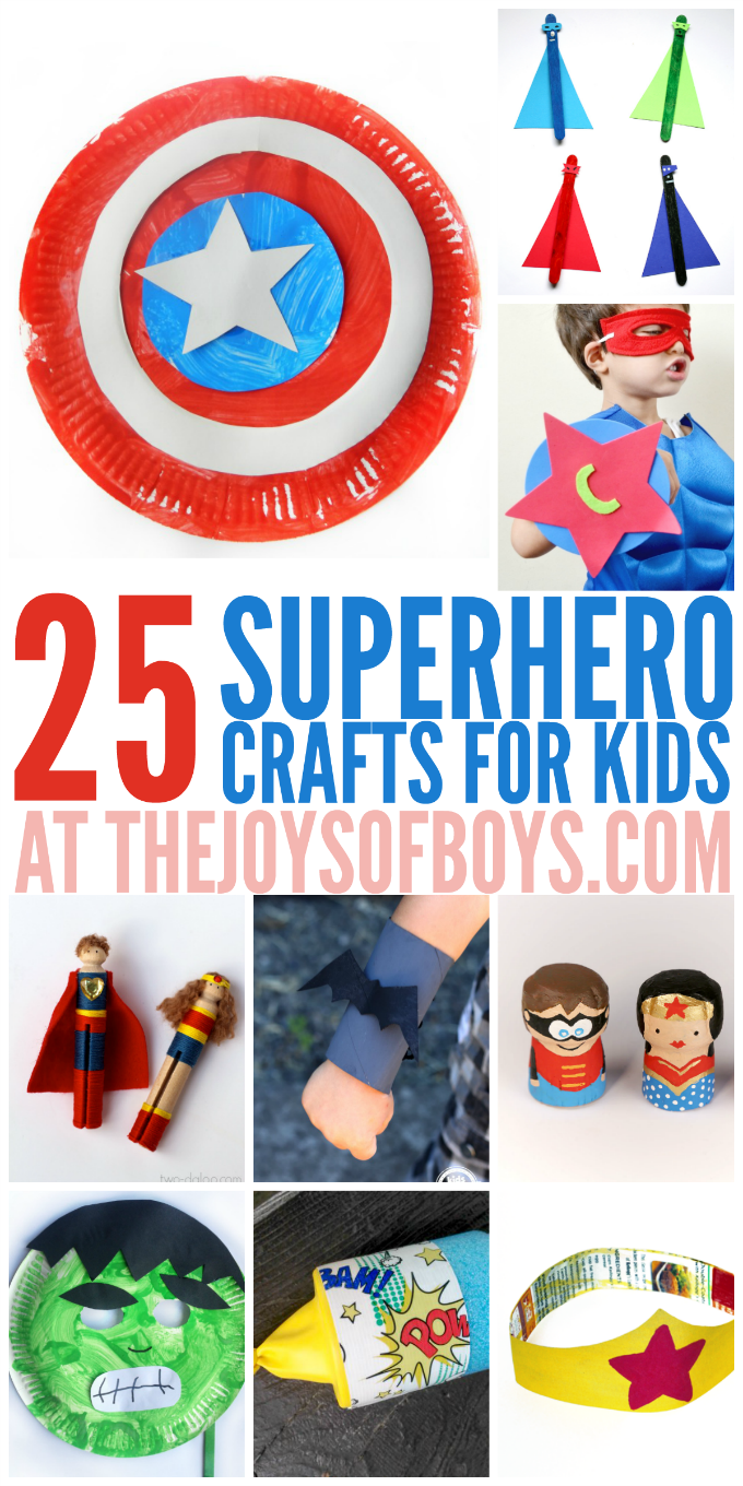 Boys arts and crafts - Superhero Crafts For Kids