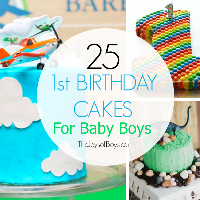 Birthday Cake Pic For A Boy : 25 First Birthday Cakes for Boys: Perfect for 1st Birthday ...
