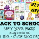 Back to School early years bundle