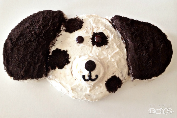 Easy Puppy Birthday Cake