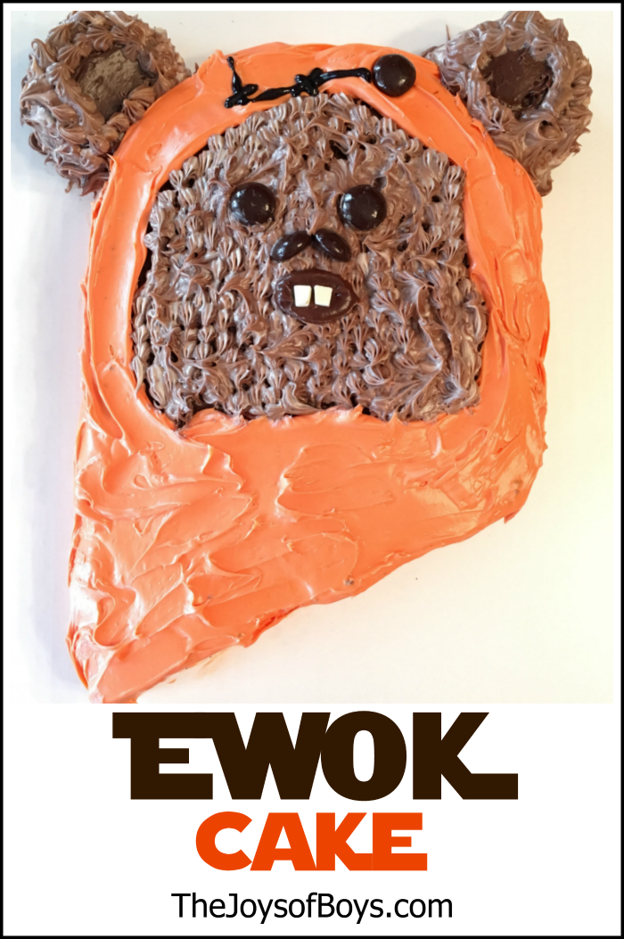 Ewok Cake Easy Star Wars Birthday Cake The Joys Of Boys