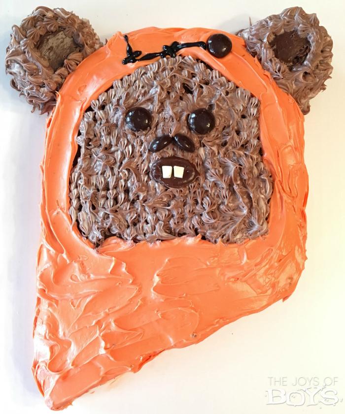 Ewok Cake Easy Star Wars Birthday Cake The Joys Of Boys