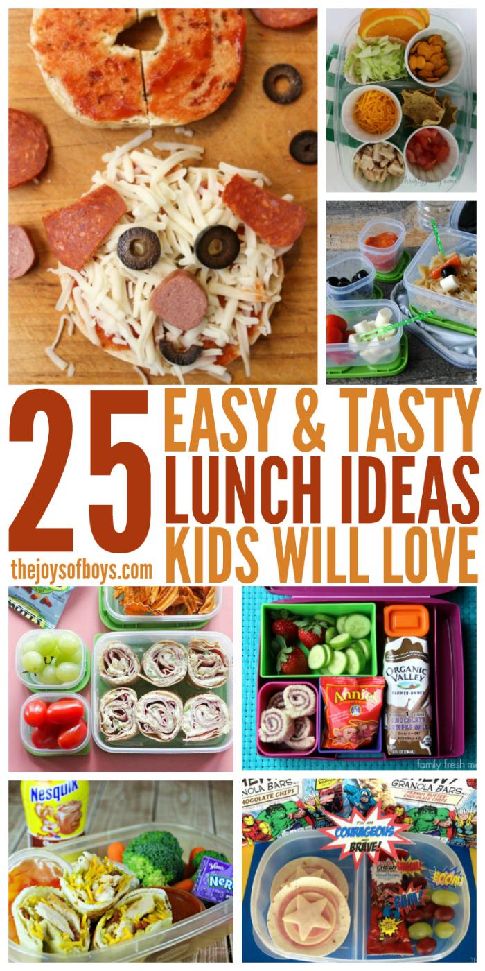 25 easy lunch ideas kids will love the joys of boys