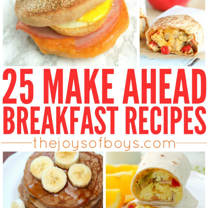 Easy Make Ahead Breakfast Recipes